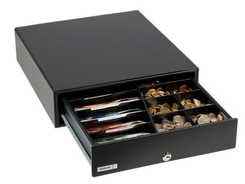 MDX 13 - Metall-Kassenschublade, Standard Einsatz, 5 Münzfächer, 4 Notenfächer, Mikroschalter 6V, anthrazit
