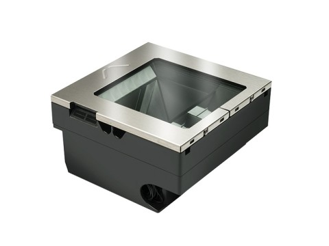 Magellan 3510HSi - 2D-Einbau-Barcodescanner, Zinn-Oxid-Glas, Standard Einbaurahmen mit Einsatz, USB + RS232