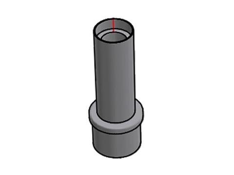 Applikation für Kundendisplay - Rohrdurchmesser ca. 54mm für Arcline, kurz