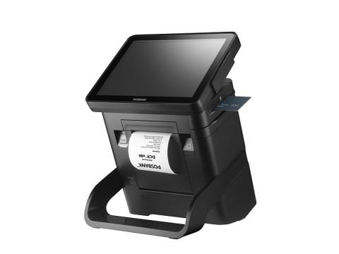"""DCR - Lüfterloses Touchsystem mit kapazitivem 9.7"""" (24.6cm) Touchscreen und Bondrucker, schwarz"""