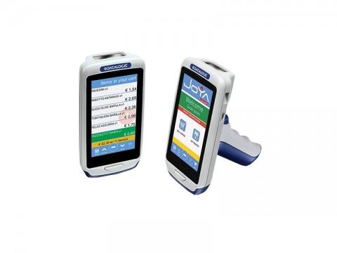 Joya Touch Plus Pistolengriff - Mobiler Computer mit 2D-Imager und Windows Embedded (Grau/Blau/Blau)