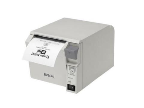 TM-T70II - Bon-Thermodrucker mit Frontausgabe, Abschneider, USB + Ethernet, weiss