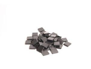Abdecktaste 1 x 1, schwarz für W/X