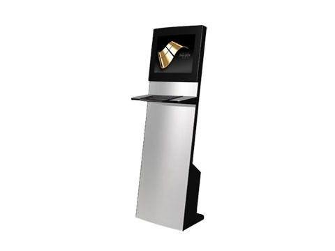 """IT-103-11 - Straight Info Tower * German Made - Kiosk-Informations-System mit 19"""" (48,26cm) SAW-Touch + inkl. Metall-Tastatur **Optional PC**"""