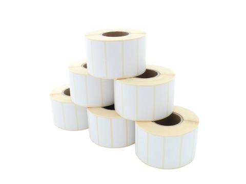 Etikettenrolle - Thermotransfer, 50 x 20mm, D85mm, Kern 40,1500 Etiketten/Rolle permanent