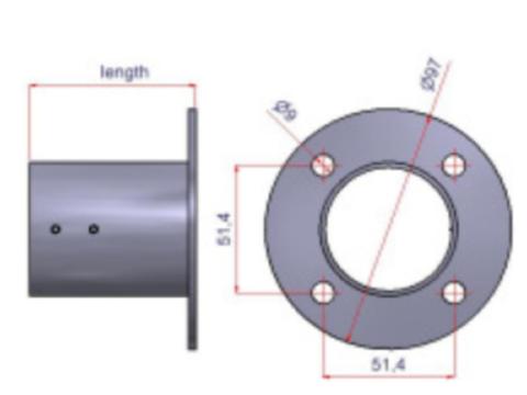 Basis Standfuß Bodenplatte rund 104mm mit Deckel, schwarz