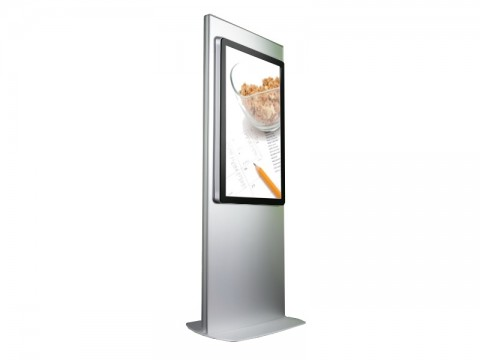"IT-312-55 - Kiosk-Informations-System (Stele) mit 55"" (139.7 cm) Infrarot-Touchmonitor, ohne PC"