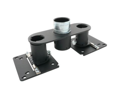 Bildschirmhalterung - VESA 75/100, 2 VESA-Halterungen, Rohrdurchmesser 54mm, kipp- und schwenkbar, Kabelabdeckung