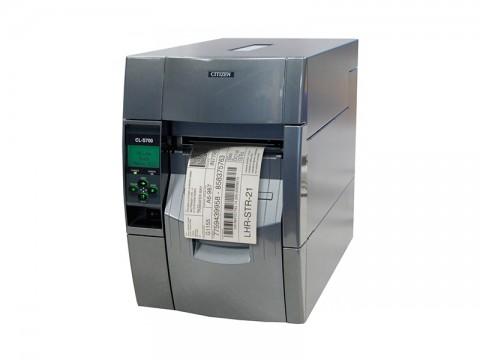 CL-S700IIR - Etikettendrucker, thermotransfer, 203dpi, Aufwickler, USB + RS232 + Ethernet, grau